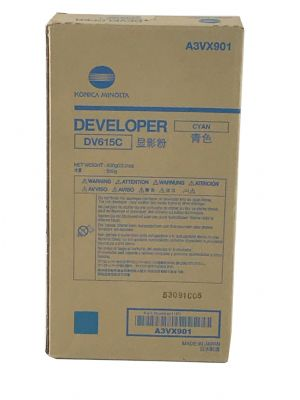 DV615C Genuine Konica Minolta Bizhub Press C71Hc Cyan Developer A3VX901
