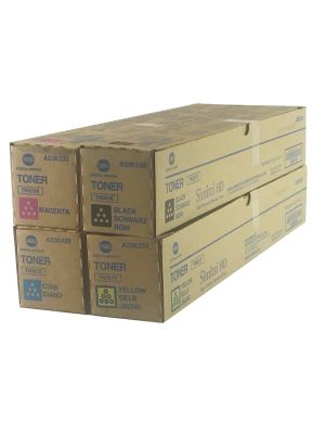 Genuine Konica Minolta C364 CYMK Toner cartridge Set