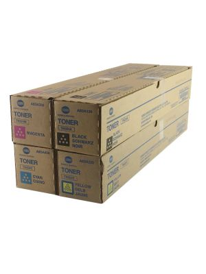 Genuine Konica Minolta Bizhub C308 Toner cartridges Set