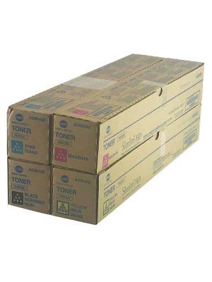 Genuine Konica Minolta TN512CYMK Toner Cartridge Set