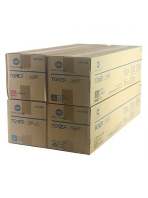 Genuine Konica Minolta Bizhub C650 Toner cartridges Set