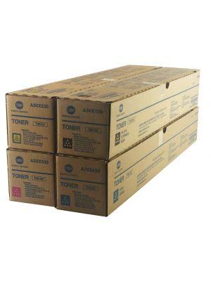 Genuine Konica MInolta TN619 CYMK Toner Cartridges Set