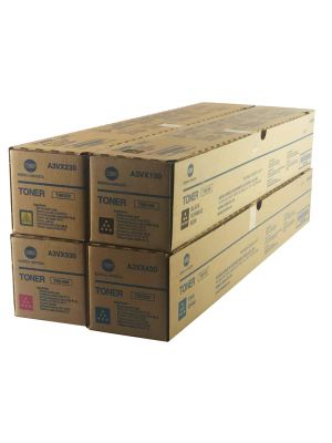 Genuine Konica MInolta accurio press C2070 Toner Cartridges Set