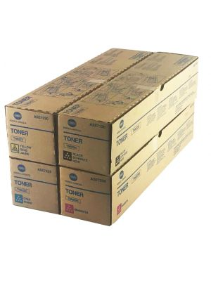Genuine Konica Minolta press C1085 CYMK Toner cartridge set