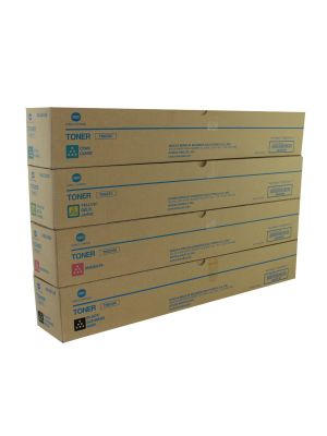 Genuine Konica Minolta Bizhub Press C71cf CMYK Toner Cartridge Set