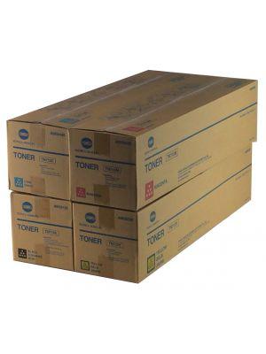 Genuine Konica Minolta TN713 CYMK Toner Cartridges Set