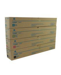Genuine Konica Minolta TN623CMYK Toner Cartridge Set
